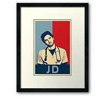 JD Scrubs poster Framed Print