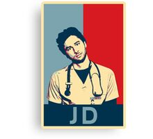 JD Scrubs poster Canvas Print