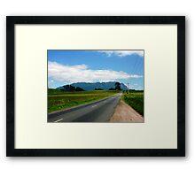 The Road to Mt Roland - Sheffield, Tasmania Framed Print