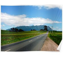 The Road to Mt Roland - Sheffield, Tasmania Poster