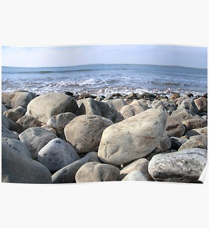 Irish pebble shore Poster