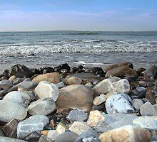 pebble shore blue by morrbyte