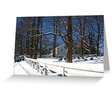 Quaker Meeting House Two Greeting Card