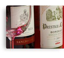 Red & White Wine Canvas Print