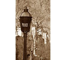 Old Police Sign Photographic Print