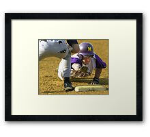 Getting to first base Framed Print