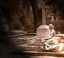 Statue - Bonaventure Cemetery in Savannah, GA by Phil Roberson