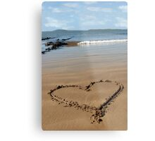 sandy love heart Metal Print