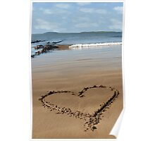 sandy love heart Poster