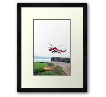 sea rescue flare Framed Print