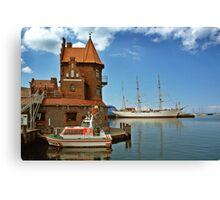 MVP64 Stralsund Harbour & Gorch Fock l, Germany. Canvas Print
