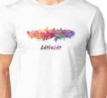 Adelaide skyline in watercolor Unisex T-Shirt