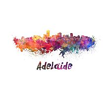 Adelaide skyline in watercolor Photographic Print