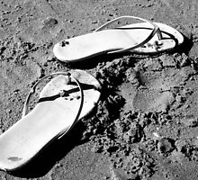Sandals in the Sand by littleinca