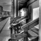 Warehouses In Black And White HDR by Svetlana Day