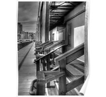 Warehouses In Black And White HDR Poster