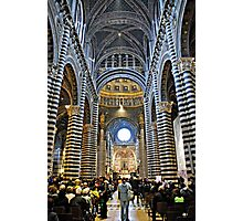 In Awe-Siena, Tuscany Photographic Print