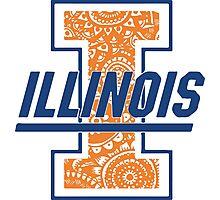 Illinois Zentangle Logo Photographic Print