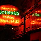 Nathan's, Coney Island by Samantha Jones