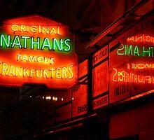Nathan's, Coney Island by Samantha Jones