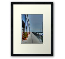 Warehouses In Color HDR Framed Print