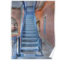 Fort Point Metal Stairs Poster
