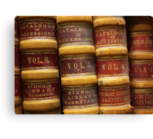 Catalogue of Accessions, Sturgis Library Canvas Print