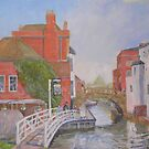 The stone bridge Newbury by Peter Lusby Taylor