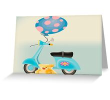 Teddy's Scooter  Greeting Card