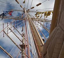 Mast of a tall ship by Katherine Maguire