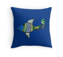 Fish Tale Throw Pillow