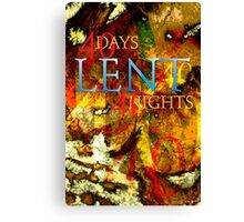 Forty Days and Nights Canvas Print