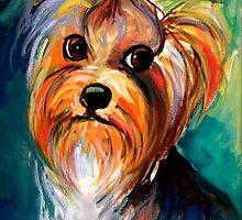 Yorkshire Terrier dog Painting #1 Svetlana Novikova by Svetlana  Novikova