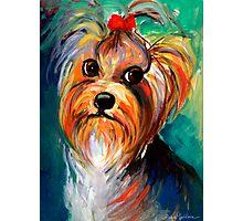 Yorkshire Terrier dog Painting #1 Svetlana Novikova Photographic Print