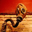 Gas Mask With Clarinet  by luckylarue
