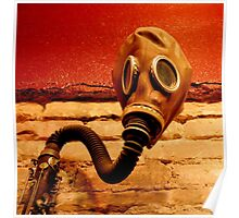 Gas Mask With Clarinet  Poster