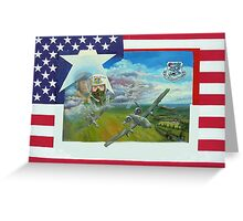 A10 pilot ,on flag, no writing Greeting Card