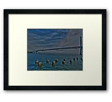 Bay Bridge In HDR Framed Print
