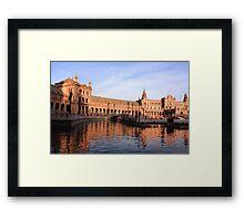 Plaza de Espana pond Framed Print