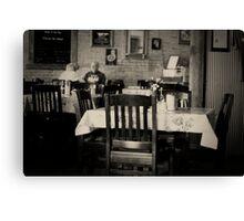 Texan cafe Canvas Print