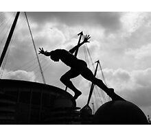 Running Man Photographic Print