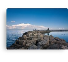 Jordan Harbour Breakwater Canvas Print