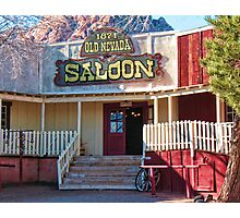 Saloon In Bonnie Springs Old Nevada Photographic Print