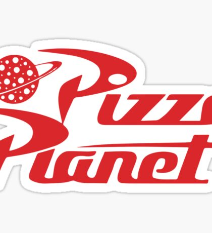 Pizza Planet shirt – Toy Story, Woody, Buzz Sticker