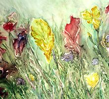 Wild Flowers on Yupo by Rosie Brown