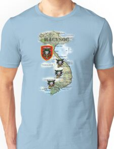 Map of MacVsog's area of operation. Unisex T-Shirt