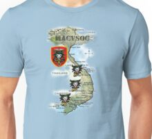 Map of MacVsog's area of operation. Unisex T-Shirt
