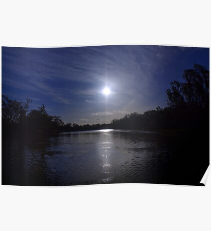 Midnight Sun - The River Murray Above Renmark Poster