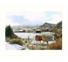 Rural winters Art Print