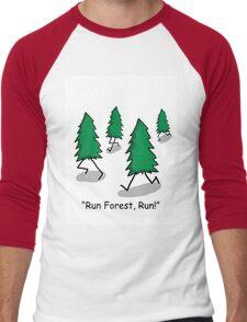 """""""Run Forest, Run!"""" - Forrest Gump Pun Men's Baseball ¾ T-Shirt"""